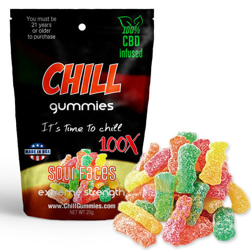 CHILL GUMMIES - CBD INFUSED SOUR FACES