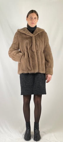 Mink Hooded Jacket