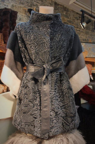 Persian Lamb Jacket Combined With Mink Fur