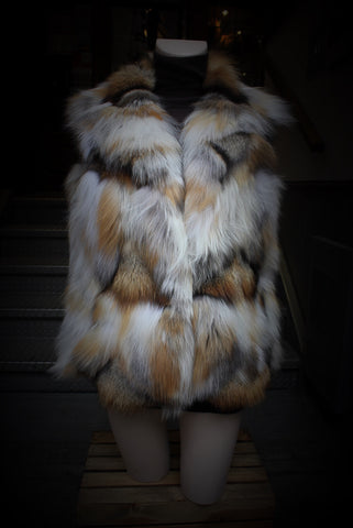 Red Fox Pieces Fur Vest