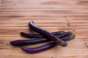 Purple Asian Eggplant - 紫長茄子 (300g)