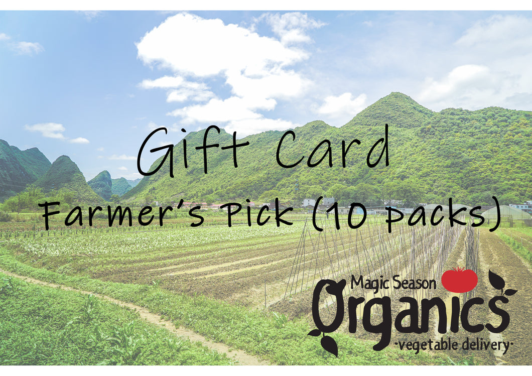 Magic Season Organics Gift Card (Farmer's Pick -10 Packs)