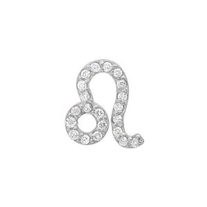 Diamond Leo Earring