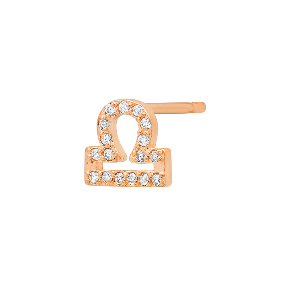 Diamond Libra Earring