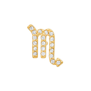 Diamond Scorpio Earring
