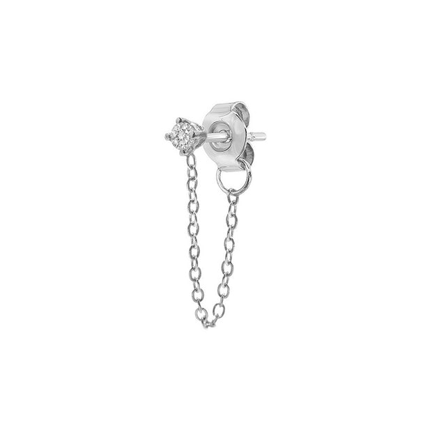 Mini Diamond Chained Earring