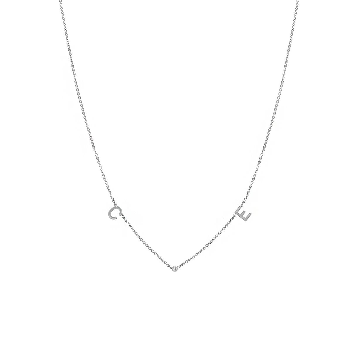 2 Initial and Diamond Necklace