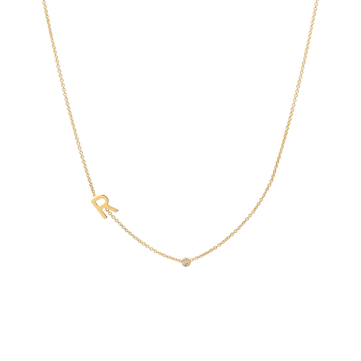 necklace initial asymmetrical van der products hout jewelry three img gold