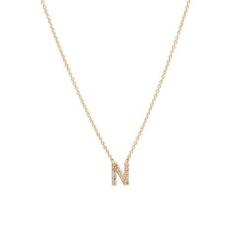 Initial Necklace - Yellow Gold