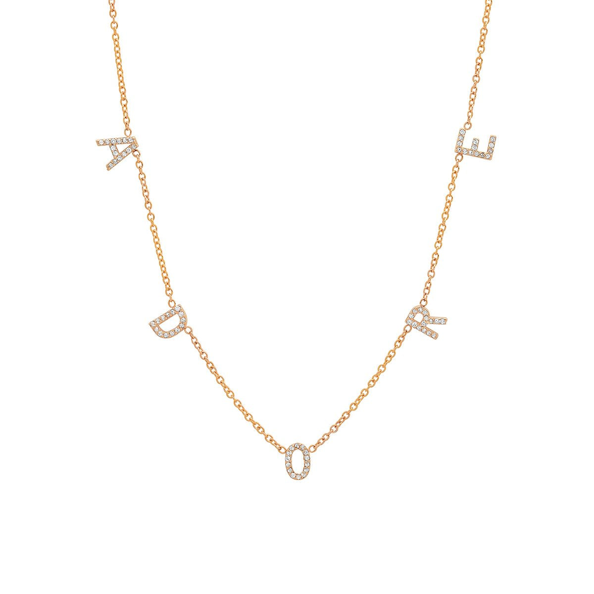 THE ORIGINAL DIAMOND SPACED LETTER NECKLACE®
