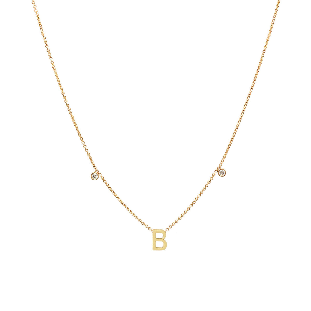Initial and Diamonds Necklace