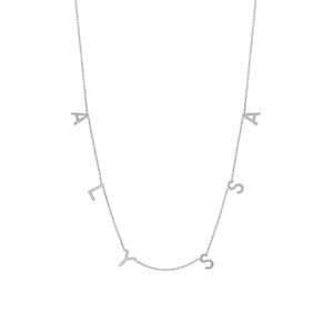 THE ORIGINAL SPACED LETTER NECKLACE - Large®