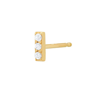 Mini Diamond Bar Earring