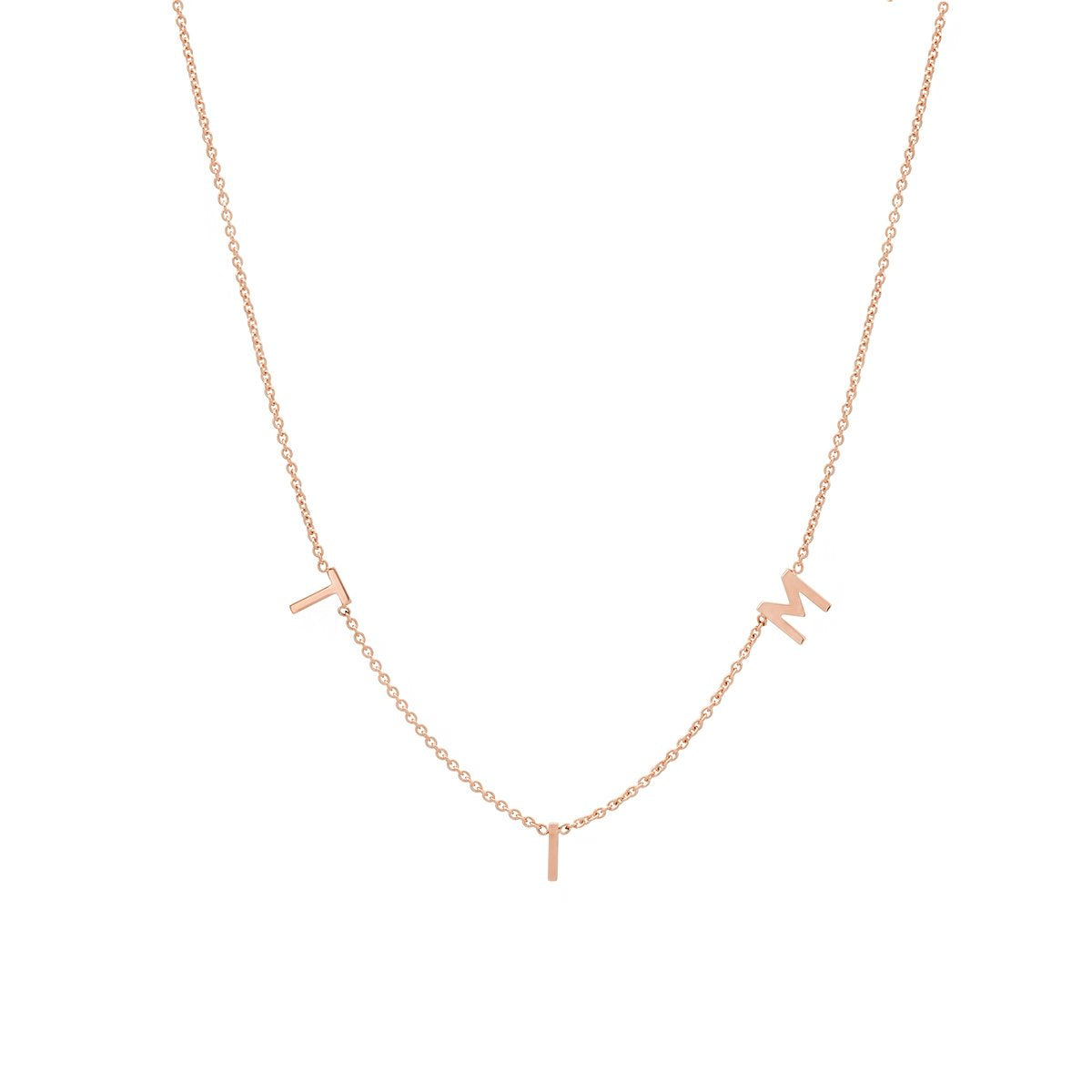 THE ORIGINAL SPACED LETTER NECKLACE - Small®