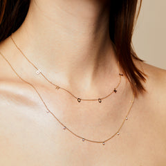Spaced Letter Necklace - Small