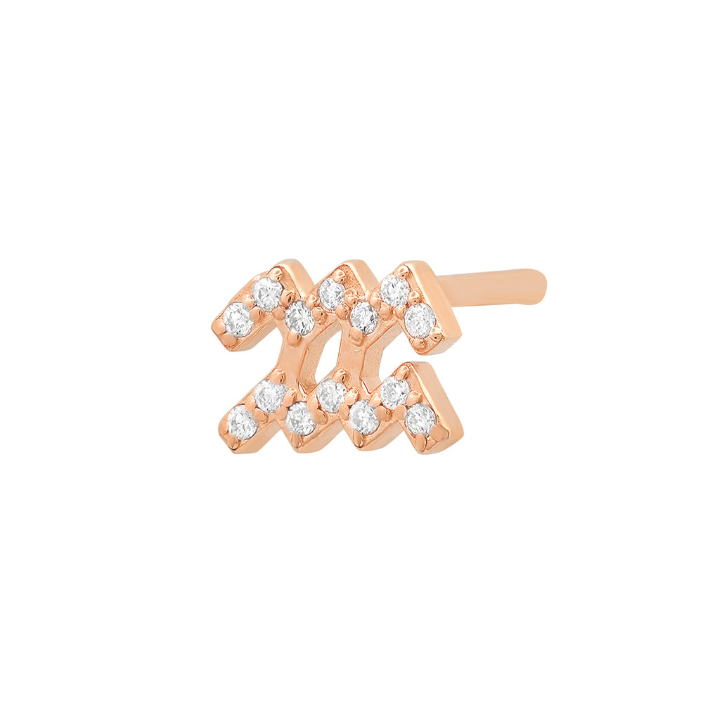 Diamond Aquarius Earring