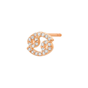 Diamond Cancer Earring