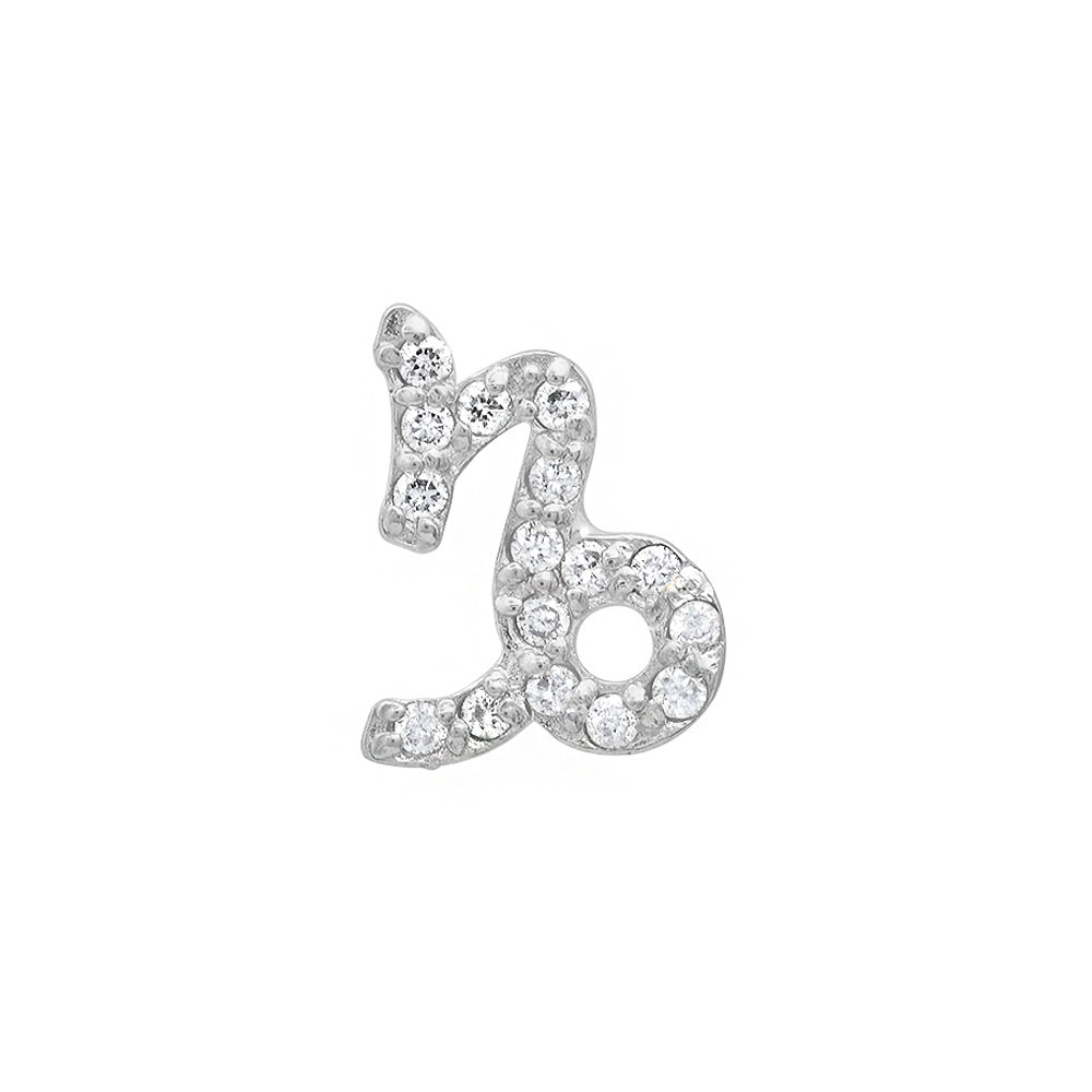 Diamond Capricorn Earring