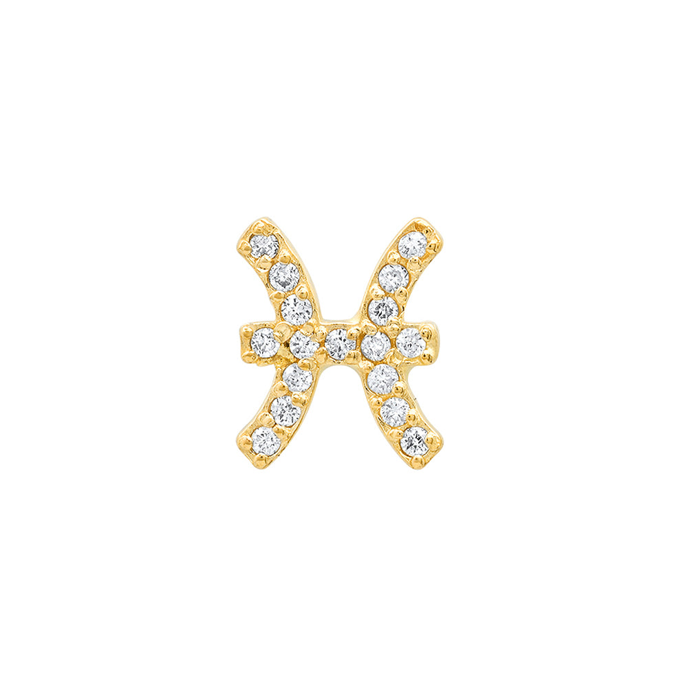 Diamond Pisces Earring