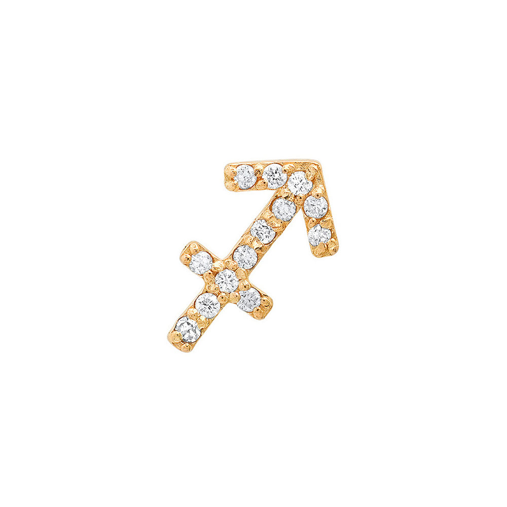 Diamond Sagittarius Earring