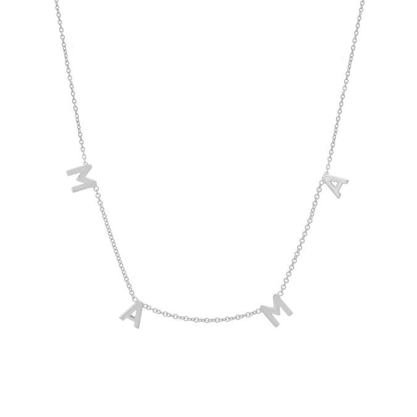 Silver MAMA Necklace