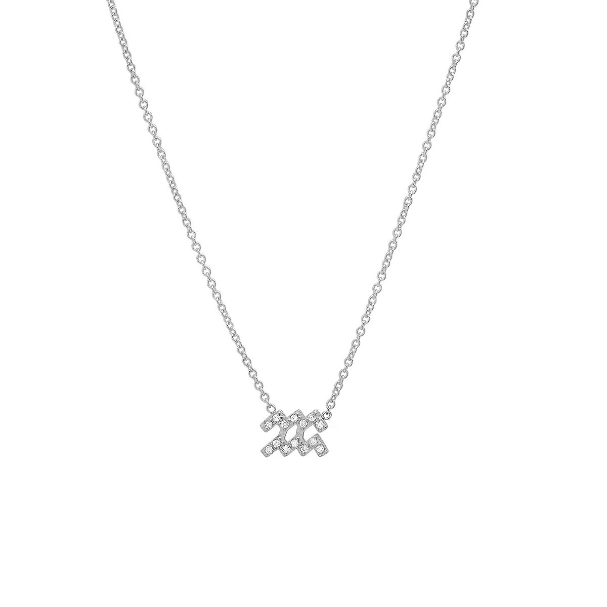 Diamond Aquarius Necklace