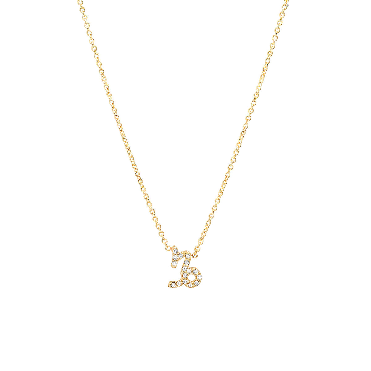 Diamond Capricorn Necklace