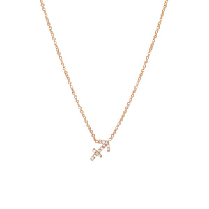 Diamond Sagittarius Necklace