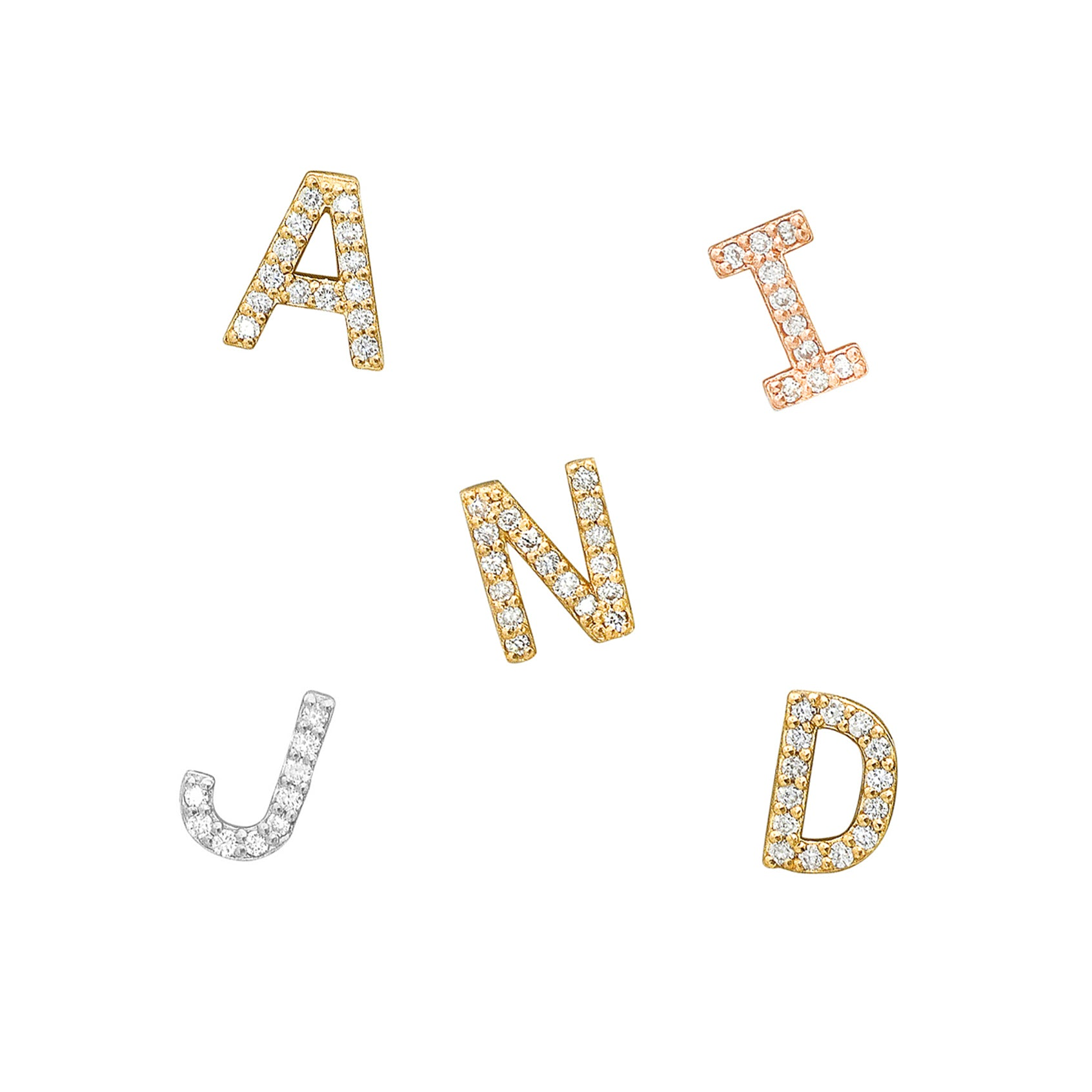 Add a Diamond Letter to your Custom Necklace