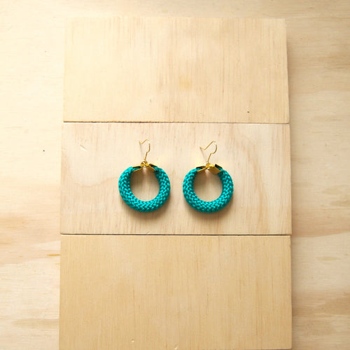 Hoola Small Green Earrings