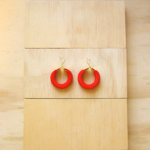 Hoola Small Red Earrings