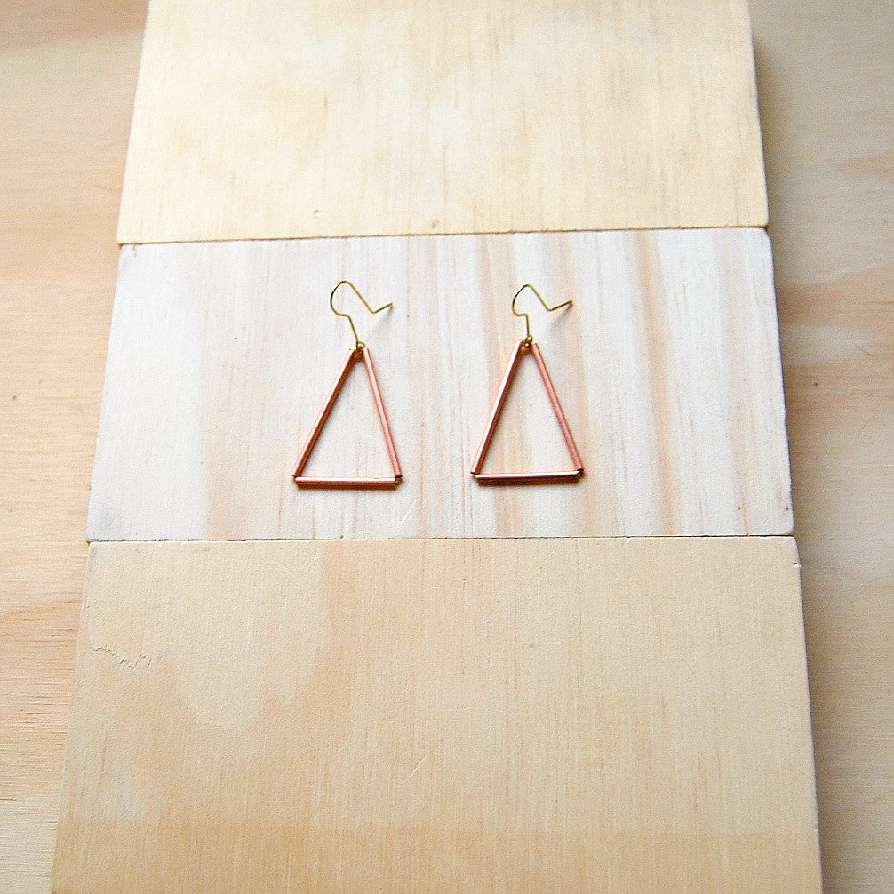 Tria Medium Copper Earrings