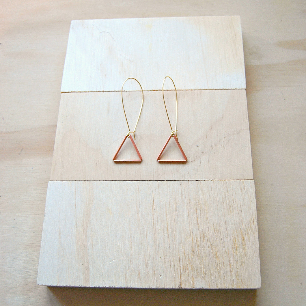 Tria Small Copper TD earrings