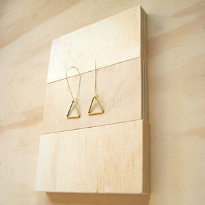 Tria Small Brass TD Earrings