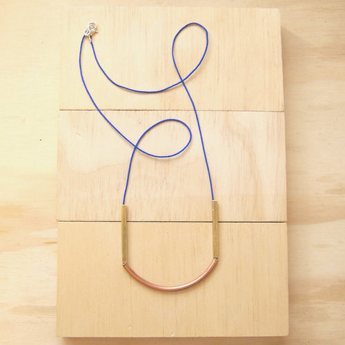 Putri Brass Copper Royal Blue