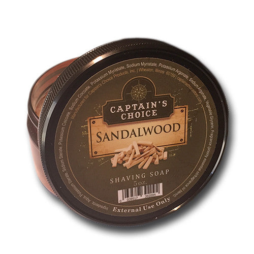 Captain's Choice - Sandalwood Shaving Soap, 5 oz.