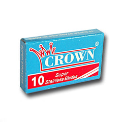 Crown - Super Stainless Razor Blades, 10 ct.