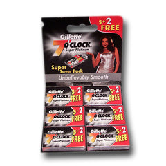 Gillette - 7 O'Clock Super Platinum Razor Blades, 42 ct.