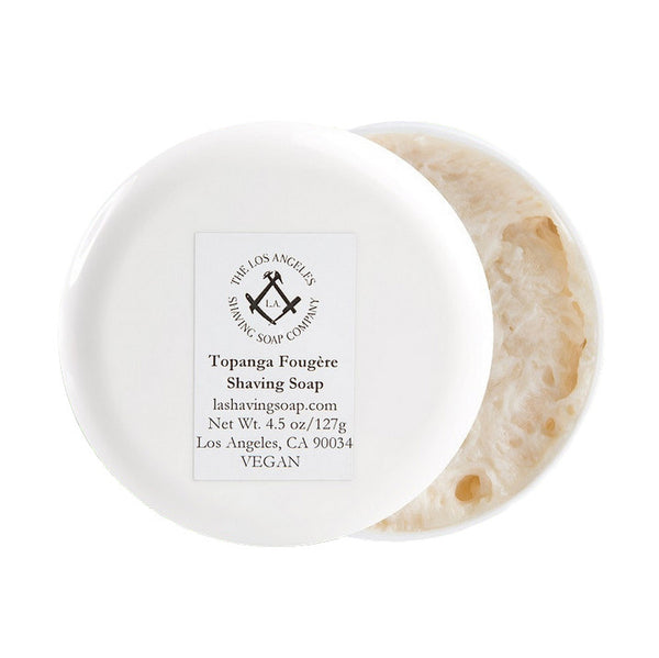 L.A. Shaving Soap Co. - Topanga Fougere Shaving Soap, 4.5 oz.