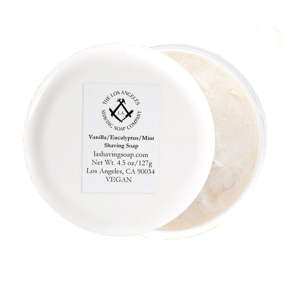 L.A. Shaving Soap Co. - Vanilla/Eucalyptus/ Mint Shaving Soap, 4.5 oz.