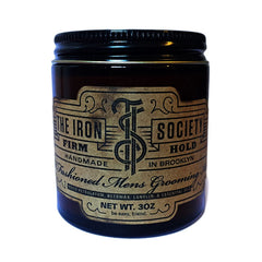 The Iron Society - Old Fashioned Men's Grooming Aid Firm Hold, 3 oz.