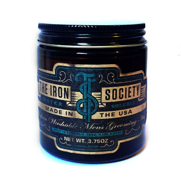 The Iron Society - Water Soluble Pomade, 3.75 oz.