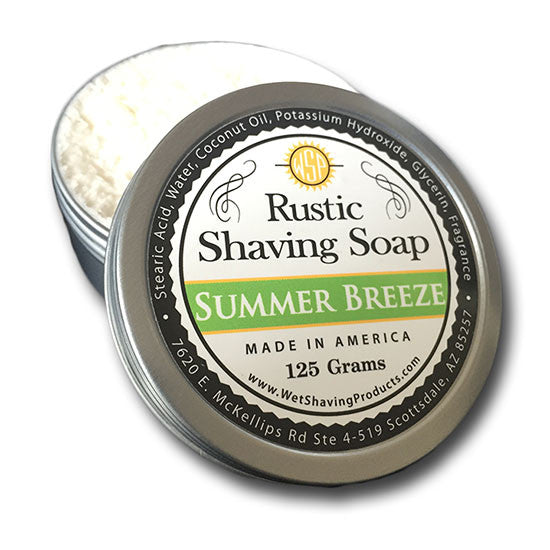 Wet Shaving Products - Summer Breeze Rustic Shaving Soap, 125g