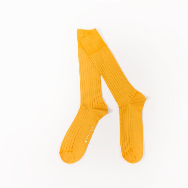 Socks - Amber Yellow / Pearle Cotton