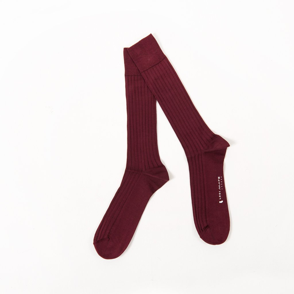 Socks - Deep Burgundy / Pearle Cotton