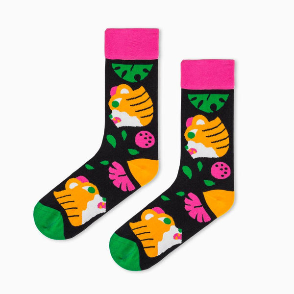 Socks with tigers on it- Tiger Socks By HEDOF
