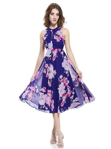 Floral Halter Summer Dress