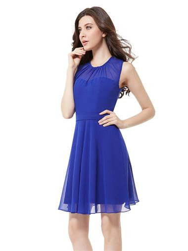 Beautiful Royal Blue Short Party Dress