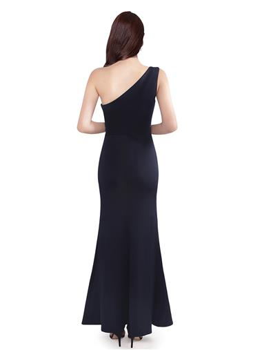 One-shoulder mermaid long formal evening dress with side split