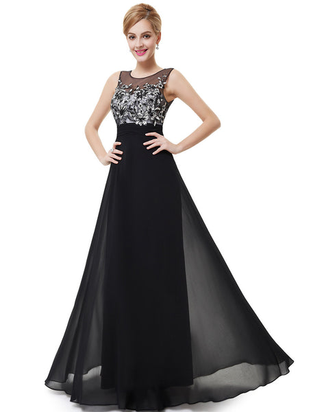 Elegant Black Long Formal Dress